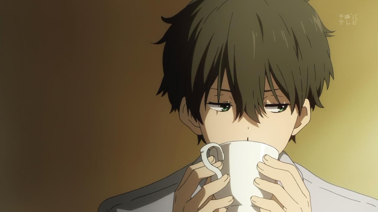 green anime eyes hair Brown